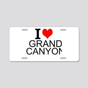 I Love Grand Canyon Aluminum License Plate