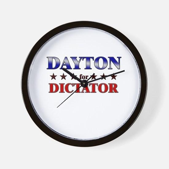 DAYTON for dictator Wall Clock