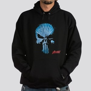 Punisher Skull Blue Hoodie (dark)