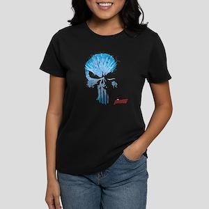 Punisher Skull Blue Women's Dark T-Shirt