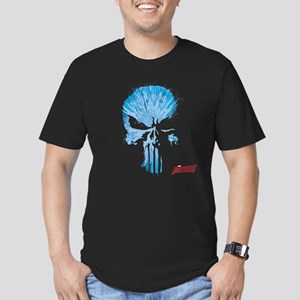 Punisher Skull Blue Men's Fitted T-Shirt (dark)