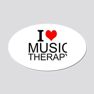 I Love Music Therapy Wall Decal