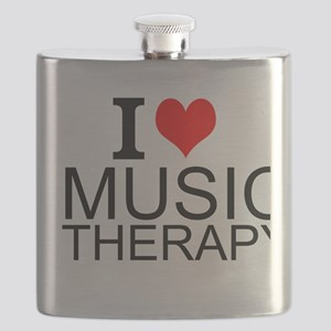 I Love Music Therapy Flask