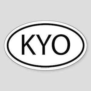 KYO Oval Sticker