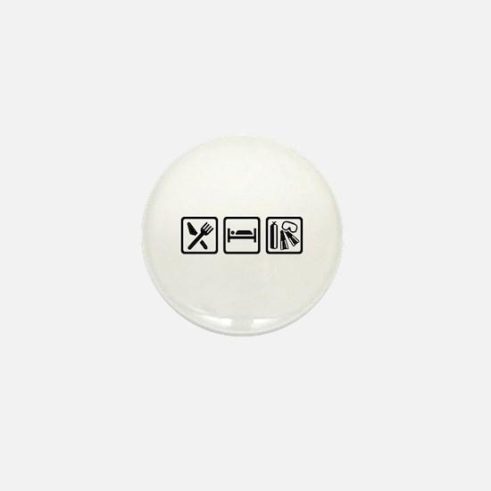 Eat sleep scuba diving Mini Button