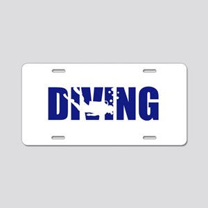 Diving Aluminum License Plate