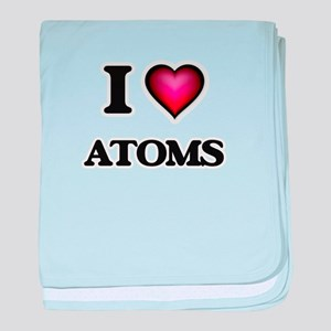 I Love Atoms baby blanket