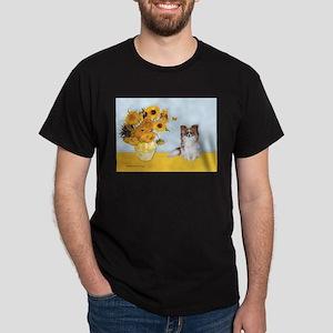 Sunflowers / Papillon(f) Dark T-Shirt