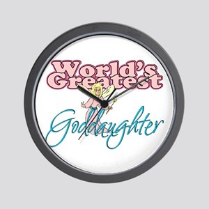 World's Greatest Goddaughter Wall Clock