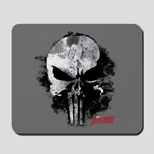Punisher Skull Black Smudge Mousepad