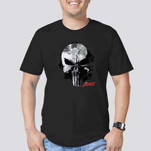 Punisher Skull Black S Men's Fitted T-Shirt (dark)