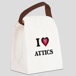 I Love Attics Canvas Lunch Bag
