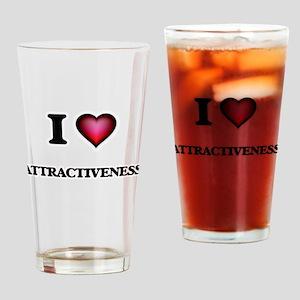 I Love Attractiveness Drinking Glass