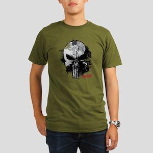 Punisher Skull Black Organic Men's T-Shirt (dark)