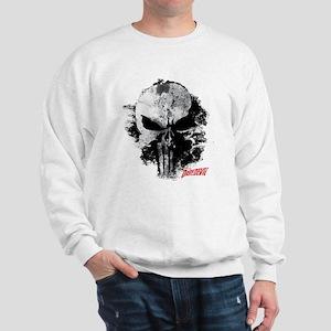 Punisher Skull Black Smudge Sweatshirt