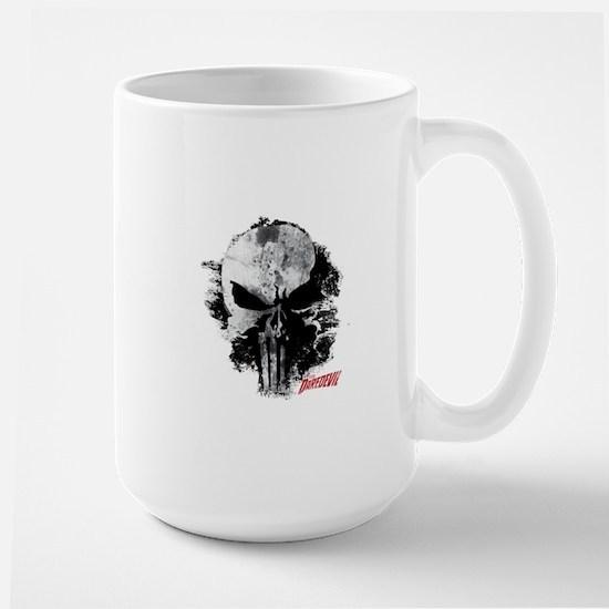 Punisher Skull Black Smudge Large Mug