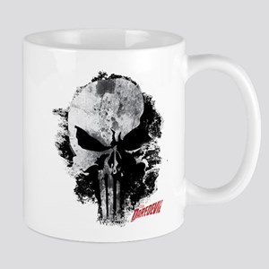 Punisher Skull Black Smudge Mug