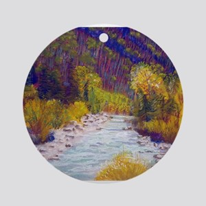 Animas River Near Durango Round Ornament