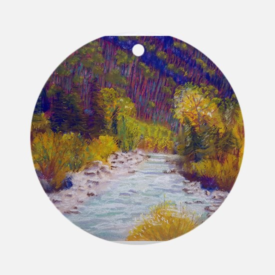 Animas River Near Durango Round Ornament