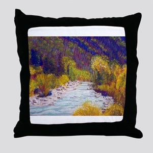 Animas River Near Durango Throw Pillow