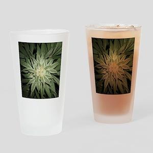 Cannabis Plant Drinking Glass