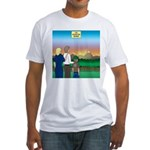 The Adventure Begins Fitted T-Shirt