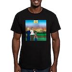 The Adventure Begins Men's Fitted T-Shirt (dark)