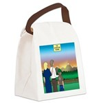The Adventure Begins Canvas Lunch Bag