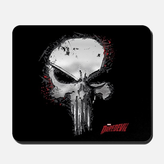 Punisher Skull Red Outline Mousepad