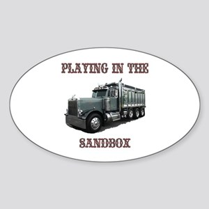 Playing In The Sandbox Oval Sticker