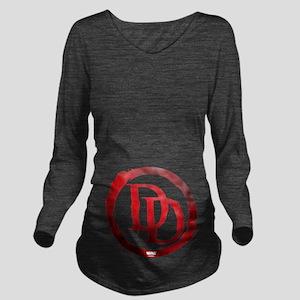 Daredevil Symbol Long Sleeve Maternity T-Shirt