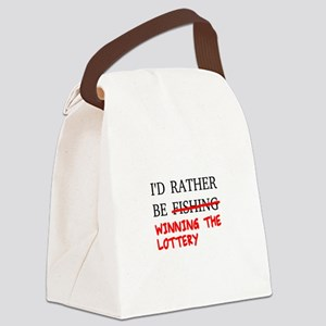 I'd Rather Be Fishing... Winning Canvas Lunch Bag