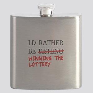 I'd Rather Be Fishing... Winning The Lottery Flask