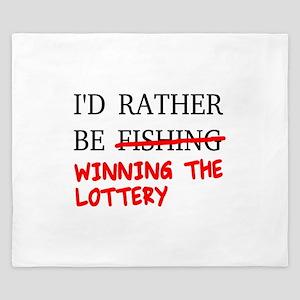 I'd Rather Be Fishing... Winning The Lo King Duvet