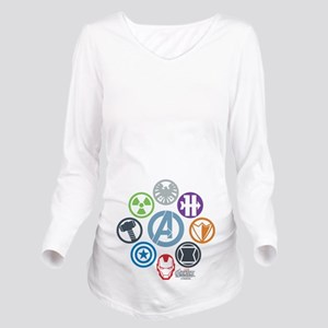 Avengers Icons Long Sleeve Maternity T-Shirt