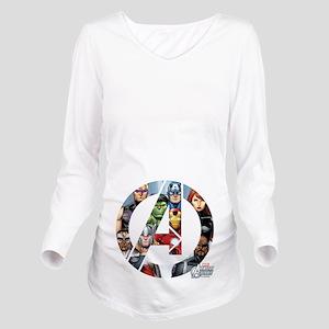 Avengers Assemble A Long Sleeve Maternity T-Shirt