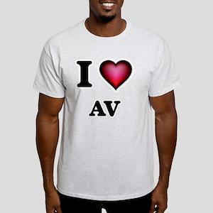 I Love Av T-Shirt
