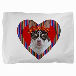 Day of the Dead Chihuahua Dog Pillow Sham