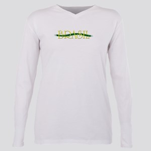 brazil ribon Plus Size Long Sleeve Tee
