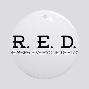 RED Logo Round Ornament