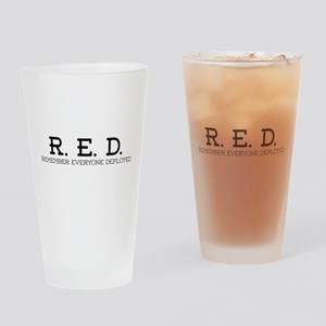 RED Logo Drinking Glass