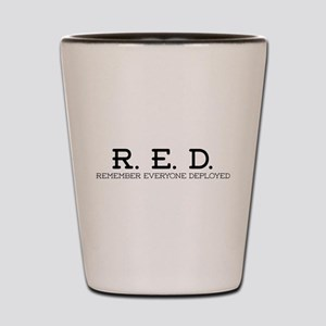 RED Logo Shot Glass