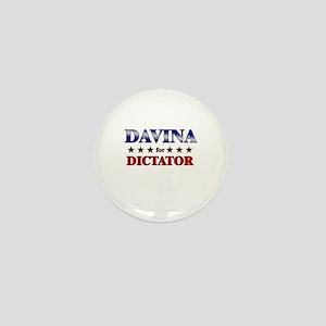 DAVINA for dictator Mini Button