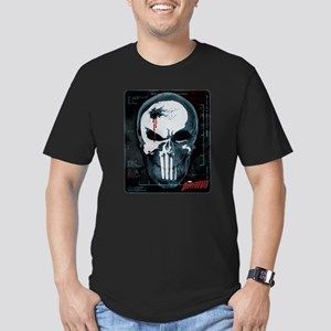 Punisher Skull X-Ray Men's Fitted T-Shirt (dark)