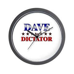 DAVE for dictator Wall Clock