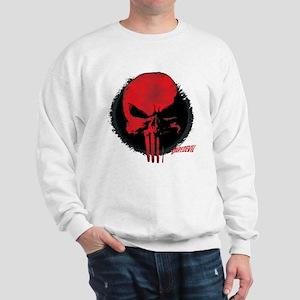 Punisher Skull Red Sweatshirt