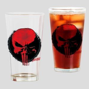 Punisher Skull Red Drinking Glass