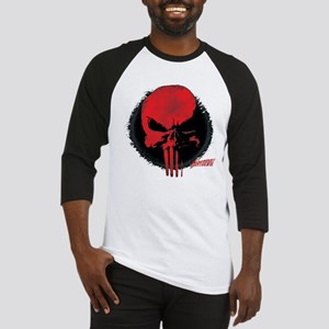 Punisher Skull Red Baseball Jersey