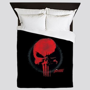 Punisher Skull Red Queen Duvet