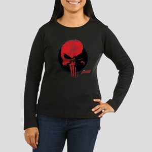 Punisher Skull Re Women's Long Sleeve Dark T-Shirt